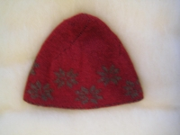 Cashmere Crepe Snowflake Double Knit Hat - Pattern